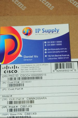 *Brand New* C881-K9 Ethernet Security Router 6Month Warranty Tax Invoice