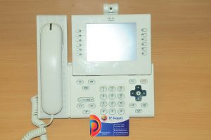 CISCO CP-9971-WL-K9 Unified IP VoIP Phone 9971 White w/CP-CAM-W 6 MthWty TaxInv