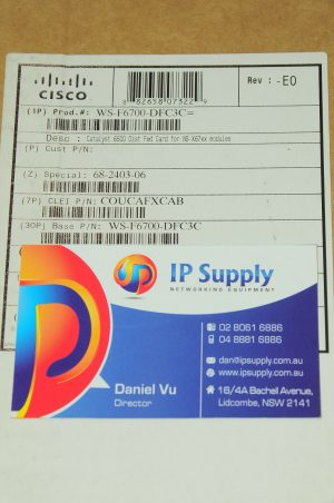 *Brand New* Cisco WS-F6700-DFC3C Distributed Forwarding Card 6MthWty TaxInv